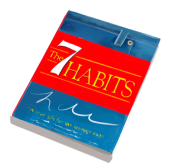 Cover of 7 habits, a book Zayd read